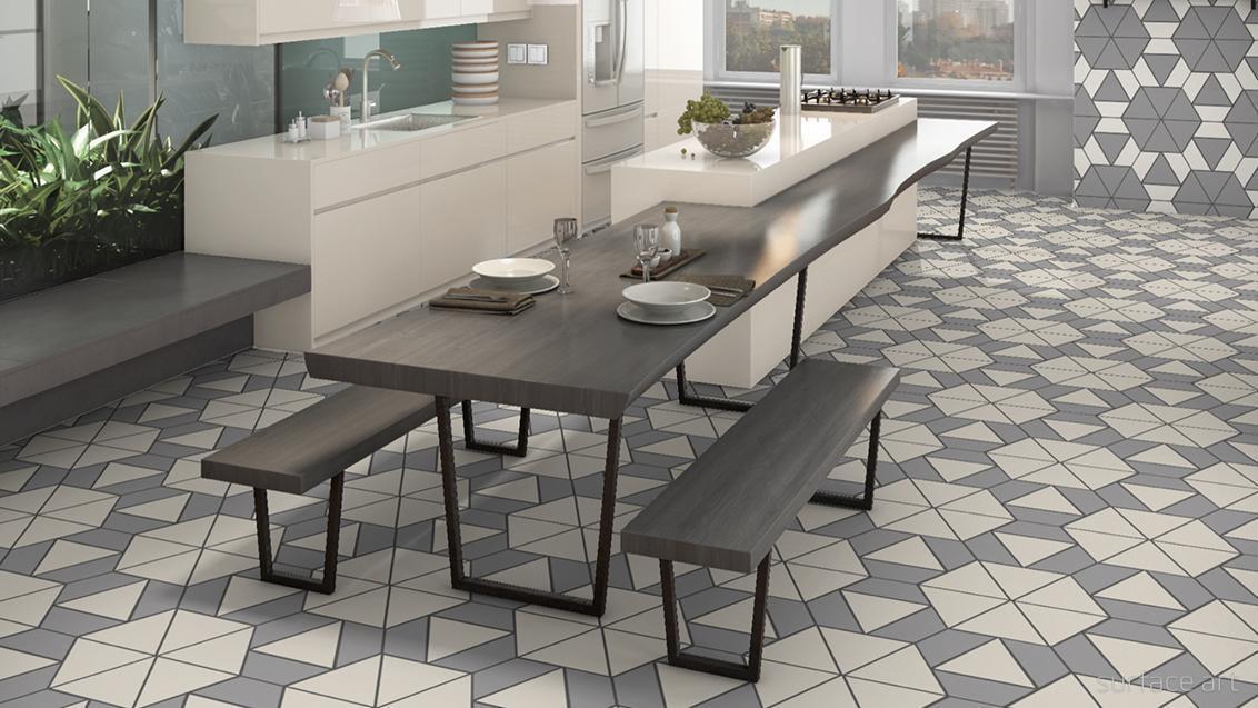 A la Mode Geometric Cuts - Surface Art, Inc