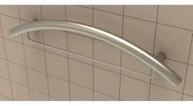 "24"" Combination Curved Grab Bar - Traditional"